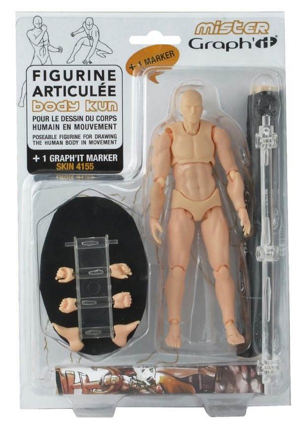 Mister Graph'it - Figurine de dessin articulée - Body Kun