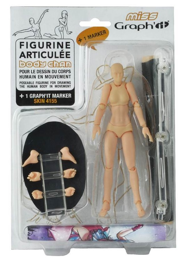 Miss Graph'it - Figurine de dessin articulée - Body Chan
